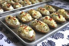 Twice Baked Potatoes: You can make these ahead and freeze.
