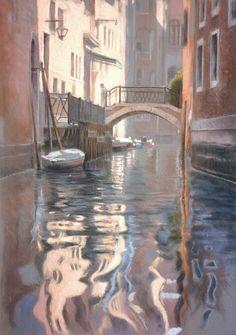 Venezia by Rubén Belloso  Pastel on board. 50 x 70 cms.