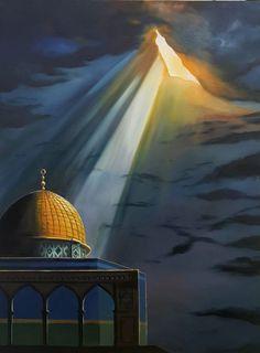 der Stirn # wie es # in # Dunkelheit # Chaos erscheint - Famous Last Words Palestine Flag, Palestine History, Muslim Religion, Dome Of The Rock, Islamic Paintings, Cartoon Painting, Turkish Art, Historical Art, Jewish Art
