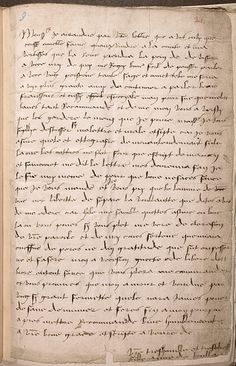 "Letter written by a young Anne Boleyn to her father, in archaic French, signed ""Anna da Boullan""."