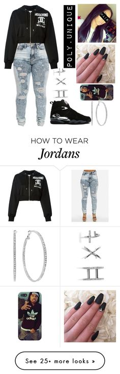 """1738 "" by koolkid-jay on Polyvore featuring Moschino, Retrò, GUESS, women's clothing, women, female, woman, misses and juniors"