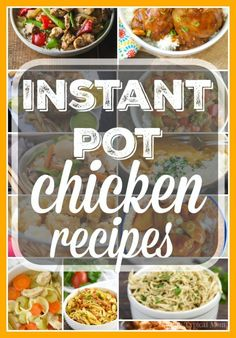 Here are a bunch of easy Instant Pot chicken recipes! We love this fancy pressure cooker and chicken can be cooked in no time, really healthy too!