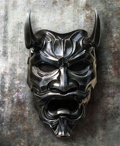 Japanese Mask - Uncle Oni Mask 311 Japanese Noh Style Fiberglass 1 by TheDarkMask Oni Maske, Samourai Tattoo, Hannya Tattoo, Japanese Mask, Fu Dog, Bild Tattoos, Cool Masks, Masks Art, Mask Design