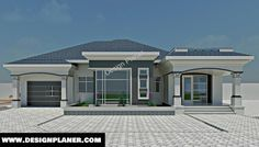 Designed Home Plans - A Turn-key Construction Services Tuscan House Plans, Modern House Plans, Modern House Design, Single Floor House Design, Home Design Floor Plans, Modern Bungalow House, Bungalow House Plans, Bungalow Designs, Free House Plans
