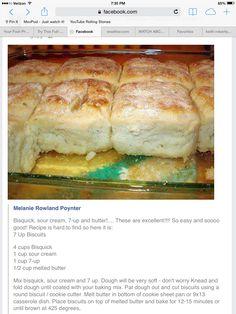 Bisquick, sour cream,7Up biscuits