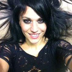 Cristina Scabbia - lead vocals of the badass band Lacuna Coil from Italy.