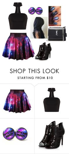 """""""Galaxy Set"""" by imani-loves-1d ❤ liked on Polyvore featuring GURU and Yves Saint Laurent"""