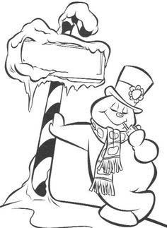 Frosty Snowman Coloring For Kids - Frosty Coloring Pages : KidsDrawing – Free Coloring Pages Online