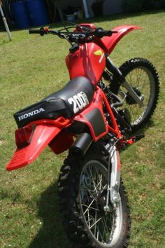 Another view of the Honda XR200RB we just finished