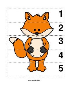 Number Sequence Preschool Picture Puzzle - Fox from Worksheet Teacher Activities For 5 Year Olds, Art Activities For Toddlers, Preschool Learning Activities, Preschool Lessons, Preschool Activities, Emotions Preschool, Numbers Preschool, Preschool Pictures, Community Helpers Preschool