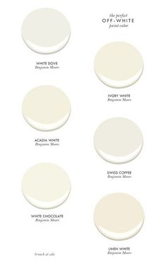 Painter - Different Painting Techniques Best off-white paint colors by Benjamin Moore. Brunch at Sacks.Best off-white paint colors by Benjamin Moore. Brunch at Sacks. Off White Paint Colors, Off White Paints, Paint Colors For Home, Paint Colours, Cream Paint Colors, Neutral Paint, Ivory Paint Color, Stucco Colors, Off White Walls