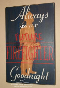Firefighter Nursery Wall Art Custom by DeenasDesign - https://www.facebook.com/DeenasDesign - $44.00