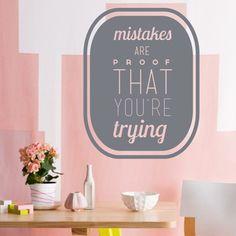 Da click! Vinilo Decorativo Mistakes