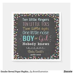Gender Reveal Paper Napkins Boy or Girl Pink Blue Gender Reveal Themes, Confetti Gender Reveal, Gender Reveal Decorations, Baby Shower Gender Reveal, Baby Shower Napkins, Party Napkins, Cocktail Napkins, Pink Girl, Pink Blue