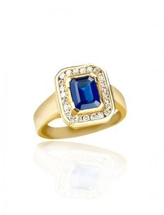 Gold, Sapphire & Diamond Ring - Available at Onyx Goldsmiths