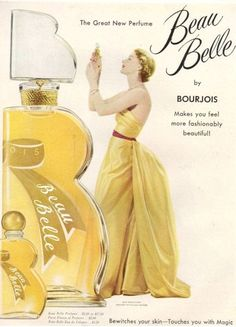 Bourjois1949 - http://pzrservices.typepad.com/vintageadvertising/advertising_from_the_1940s/page/32/
