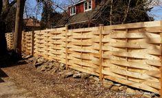Basket weave fence