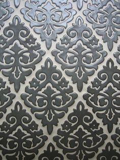 Julep Tile Company- Damask pattern shown in Steel Gray