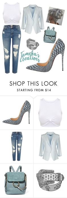"""Better late than never! ❤❤❤"" by tamekascreatives on Polyvore featuring Christian Louboutin, River Island, Patrizia Pepe and Chloé"