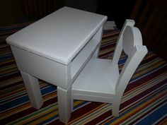 Custom made American Girl Student Desk and Chair 2