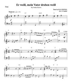 Er weiß, mein Vater droben weiß (My Father Knows) for Harp Harp, My Father, Sheet Music, Father, Music Sheets