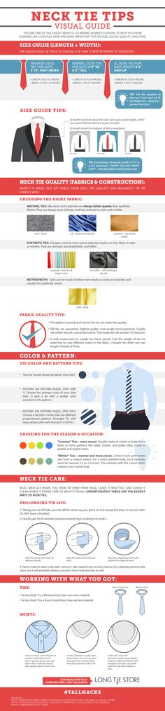 Tie purchasing guide.  Learn how to pick a great tie.  It's important to consider the material, size, and thickness of the tie to match your personal taste.