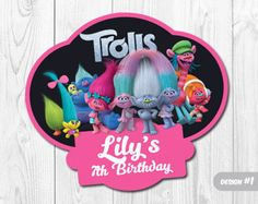 16 Trolls centerpieces Trolls printable by TusCuchituras on Etsy