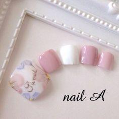 ネイル デザイン 画像 1579294 ピンク フラワー ソフトジェル フット