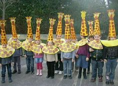 I like the idea of a cone hat to make the giraffe head/neck Giraffe Costume, Kids Crafts, Diy And Crafts, Arts And Crafts, Giraffe Crafts, Animal Crafts, Creative Costumes, Diy Halloween Costumes, Early Education
