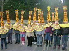 Kartondan harika zürafa başlık yapımı