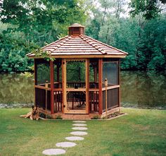 I would LOVE a screened gazebo in the back!