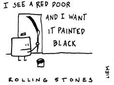 Rolling Stones. Painted black. 365 illustrated lyrics project, Brigitte Liem.