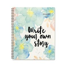 At-A-Glance B Positive Prof. Week/Month Planner, Write Your Own Story,... ($23) ❤ liked on Polyvore featuring home, home decor, stationery and pink