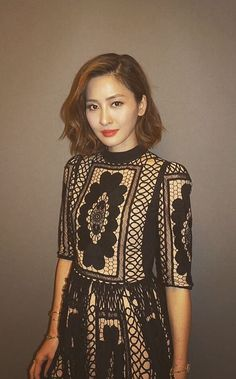 Beautiful Kathy Chow wearing Bora Aksu Aw16  Lace dress in December 2016