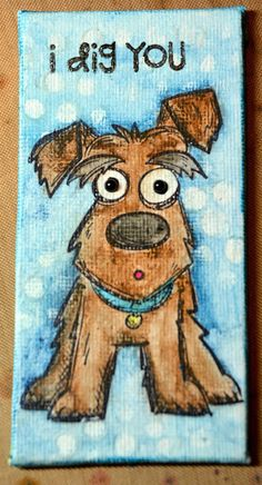 Crazy Dogs Mini Canvases