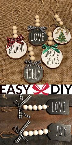 100 + Beautiful Easy DIY Christmas Ornaments For The Tree #ChristmasTree #ChristmasCrafts