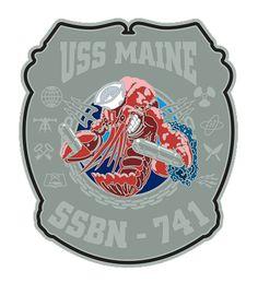 USS Maine SSBN-741 Navy Rate Shirt $17.76 Us Navy Shirts, Navy Rates, Aviation Engineering, Navy Logo, Emblem, Military Service, United States Navy, Submarines, Crests