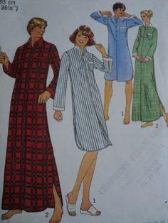 Vintage Simplicity 7723 Size Medium Unisex Nightshirt PJs Sleepwear Pattern 70s   eBay Opening Number