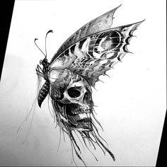 Fotos no painel de comentários da comunidade | VK Dark Art Drawings, Tattoo Design Drawings, Skull Tattoo Design, Skull Tattoos, Art Drawings Sketches, Tattoo Sketches, Cute Tattoos, Body Art Tattoos, Sleeve Tattoos