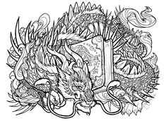 adult dragon coloring pages 106 Best SCA Coloring pages images | Coloring pages, Coloring book  adult dragon coloring pages