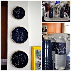 Twinkle Twinkle Little Star Partystickers on cups