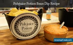 Harry Potter Party Food: Polyjuice Potion Bean Dip. It looked delightfully disgusting! Luckily the recipe for the fake potion is MUCH easier than the real potion and you don't have to break into Snape's office to get the ingredients.