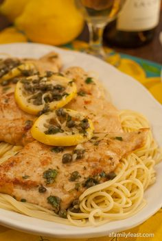 Chicken Piccata - A Family Feast - This was a huge hit.