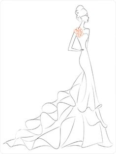 163 best fashion sketches images fashion drawings drawing fashion Model Sketch get a sketch made from a pic of of you in your dress love it