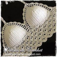 * Pérolas do Crochet: Croppeds em crochet