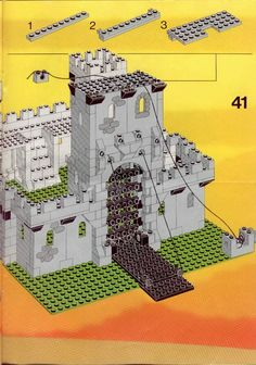 Thousands of complete step-by-step printable older LEGO® instructions for free. Here you can find step by step instructions for most LEGO® sets. Classic Lego, Classic Toys, Legos, Lego Lego, Lego Plan, Lego Castle Instructions, Lego Burg, Lego Kits, Lego Craft