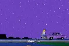 Uploaded by Find images and videos about simpsons, world and purple on We Heart It - the app to get lost in what you love. Babar Dessin Animé, Triste Naruto, Photo Bleu, Purple Walls, Purple Art, Purple Aesthetic, Aesthetic Grunge, Crying Aesthetic, Pics Art