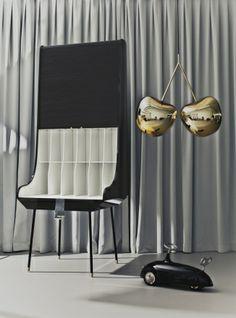 Secretaria desk, 2013 Design by Nika Zupanc Material: wood/piano black finish, metal details Dimensions: 99 x 83 x 249 cm
