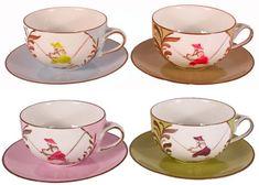 - China-Marie Daâge Limoges-porcelain Tea Cups