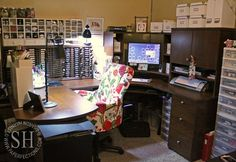 A peek into my creative space since moving in August 2013... from Sharon Harnist via Paperfections.com